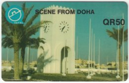 QATAR A-111 Magnetic - View, Clocktower - Used - Qatar