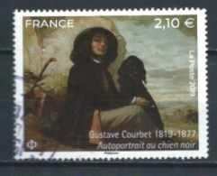 FRANCIA 2019 (O) USADO YT-5333 BICENT. NACIM. GUSTAVE COURBET. CACHET ROND - France