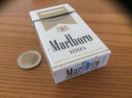 "Paquet Cigarettes Vide Etats-Unis ""Marlboro 100's - NEVADA TAX PAID"" USA - Boites à Tabac Vides"