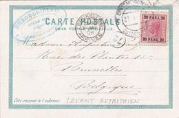 Salut De Constantinople - Amusement Oriental - 20 Para 20 Constantinople / Ostereich Post - 1908 - Levant Autrichien
