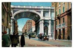 Ref 1326 - Early Postcard - Ponte Monumentale E Via XX Settembre Genova - Italy - Genova (Genoa)