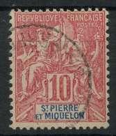 Saint Pierre Et Miquelon (1892) N 73 (o) - Used Stamps