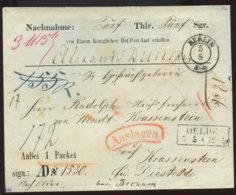 ~1850 Berlin, Nachnahme Beleg N.Oelde - Auslage - Allemagne