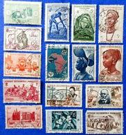 France (ex-colonies & Protectorats) > A.O.F. Lot De &15 Timbres   Oblitérés - A.O.F. (1934-1959)