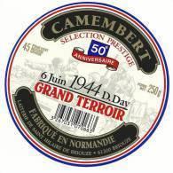 étiquette De Fromage:   Camembert   :    6  Juin  1944  Débarquement - Cheese