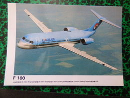 KOREAN AIR    FOKKER 100      AIRLINE ISSUE / CARTE DE COMPAGNIE - 1946-....: Modern Era