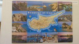 AV216.4  Map Carte Karte -CYPRUS  Nicosia Kyrenia Palos Akamas Lemessos Larnaka Famagusta - Landkarten