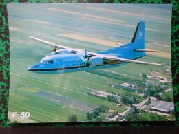 MAERSK    FOKKER 50      AIRLINE ISSUE / CARTE DE COMPAGNIE - 1946-....: Modern Era