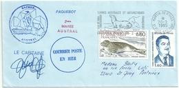 YT 107 Phoque Crabier - YT 99 Martin De Viviès - Posté à Bord De L'Austral - Secap De Saint Paul Et Amsterdam - 20/02/85 - French Southern And Antarctic Territories (TAAF)