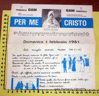 FANCIULLI GAM PER ME CRISTO FEBBRAIO 1981 - Programmi