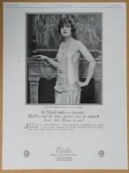 1925 Tecla La Grande Duchesse Boris De Russie (collier De Perles, Bijoux) - Sérums Capillaires - Publicité - Pubblicitari