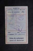 VIEUX PAPIERS - Carte D'embarquement De La Cie Sabena En 1954 - L 40083 - Alte Papiere