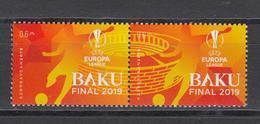 Azerbaijan MNH** 2019 Mi 1439-40 Zd UEFA European Ligue Final - Aserbaidschan