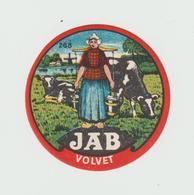 étiquette De Fromage:    Holland , Gouda  ;  Jab  Volvet   ( Petit  Format ) - Fromage