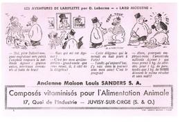 BUVARD :  ANCIENNE MAISON LOUIS SANDERS S.A. - COMPOSES VITAMINES POUR L'ALIMENTATION ANIMALE - Agriculture