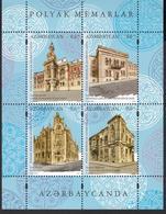 Azerbaijan MNH** 2019 Mi 1441-44 Bl.221 Architecture. Joint Issue Azerbaijan-Poland M - Gemeinschaftsausgaben