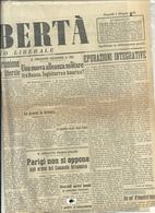 LA  LIBERTA'  1  PAGINA 1 GIUGNO  1945 --2  FACCIATE  ORIGINALE - War 1939-45