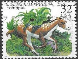 1996 32 Cents Prehistoric Animals, Eohippus, Used - United States