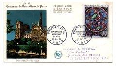 FDC 1964 8 EME CENTENAIRE NOTRE DAME DE PARIS - 1960-1969