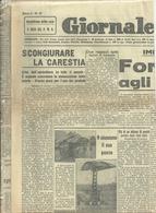 IL  GIORNALE    LOMBARDO    1  PAGINA 22 GIUGNO  1945 --2  FACCIATE  ORIGINALE - War 1939-45