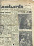 IL  GIORNALE    LOMBARDO    1  PAGINA    8  GIUGNO  1945 --2  FACCIATE  ORIGINALE--ESECUZIONE  KOCK - War 1939-45