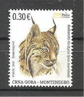 MONTENEGRO  2019,ANIMALS,FAUNA,LYNX LYNX,,MNH - Umweltschutz Und Klima