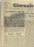 IL  GIORNALE    LOMBARDO    1  PAGINA    21   GIUGNO  1945 --2  FACCIATE  ORIGINALE--ALEXANDER A  MILANO - War 1939-45