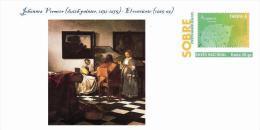 Spain 2014 - Johannes Vermeer (dutch Painter, 1632-1675) - Special Prepaid Cover - Desnudos