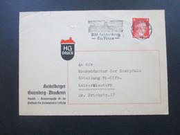 3. Reich 1942 Brief Heidelberger Gutenberg Druckerei An Die Kommandantur Der Saarpfalz Abteilung Pi-Offz. - Deutschland