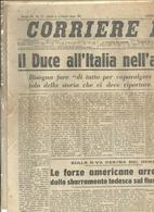 CORRIERE  DELLA  SERA   1  PAGINA    24   MARZO  1945 --2  FACCIATE  ORIGINALE--  IL DUCE  ALL' ITALIA  DEL XXIIIMARZO - War 1939-45