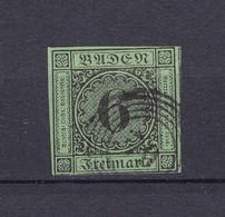 Baden - 1852 - Michel Nr. 3 B - 60 Euro - Baden