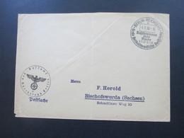 3. Reich Postsache Postamt Des Reichstags Berlin Und SST Berlin Reichstag Große Antibolschewistische Ausstellung - Deutschland