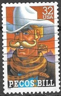 1996 32 Cents Folk Heroes, Pecos Bill, Used - United States