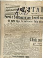 LA  LIBERTA'     1  PAGINA    16< GIUGNO  1945 --2  FACCIATE  ORIGINALE--  I I  FRANCESI  OCCUPANO  LE  VALLI  LIGURI - War 1939-45