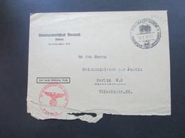 3. Reich 1937 Staatsanwaltschaft Mosbach Mit SST An Den Reichsminister Der Justiz In Berlin Roter Dienststempel. - Deutschland