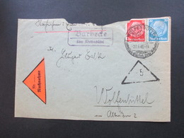 3. Reich 1940 Nachname Beleg SST Wolfenbüttel Und Landpoststellen Stempel Barbecke über Wolfenbüttel Ortsbrief - Deutschland