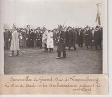 FUNÉRAILLES DU GRAND DUC LUXEMBOURG LE DUC DE BADE ET LES AMBASSADEURS 18*13CM Maurice-Louis BRANGER PARÍS (1874-1950) - Personalidades Famosas