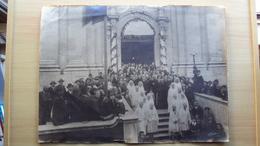 TRIESTE VECCHIA FOTO FORMATO GRANDE ARRIVO PADRE FAUSTINO MARIA PIEMONTE CHIESA SANTA MARIA MAGG. MIS. CM. 45x33 - Luoghi
