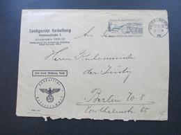 3. Reich 1938 Landgericht Heidelberg An Den Reichsminister Der Justiz In Berlin. Stempel Mit Der Kraftpost Durch Baden - Deutschland