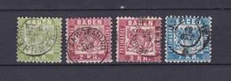 Baden - 1868 - Michel Nr. 23/25 - 73 Euro - Baden