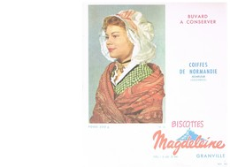 BUVARD :  BISCOTTES MAGDELEINE COIFFES DE NORMANDIE HONFLEUR (Calvados) - Biscottes
