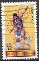 1996 32 Cents Indian Dance, Hoop, Used - United States