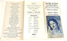Ancien Programme Du Teatro Alegría De Circuitos Arriola - Puerto De La Cruz, Tenerife - Programas