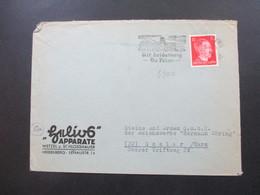3. Reich 20.2.1945 Heidelberg Brief An Die Steine Und Erden GmbH Der Reichswerke Hermann Göring Goslar Harz - Deutschland