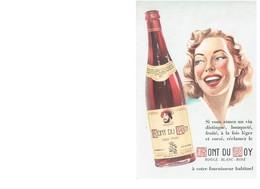 BUVARD :  FONT DU ROY - ROUGE BLANC ROSE - Liqueur & Bière