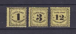 Baden - Portomarken - 1862 - Michel Nr. 1/3 X - 53 Euro - Baden