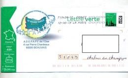 Pap Monument Paris  Flamme Chiffree Sous Code Symbole Inegalite Entete Association Entre-aide Oise - PAP:  Varia (1995-...)