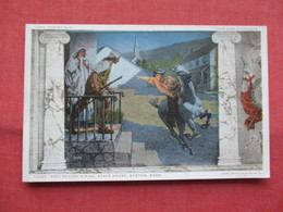 Detroit Publisher  ---Paul Revere's Ride  State House  Boston Mass.      Ref    3567 - History