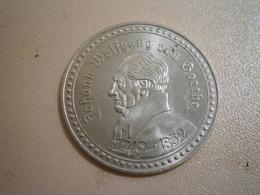 Johann Wolfgang Goethe Munze Medaille Coin Medal Uraufführung FAUST Theater MEDAILLE MUNZE MONAIE - Plaques Publicitaires