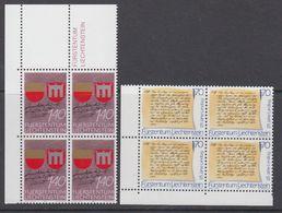 Liechtenstein 1987 Gedenkjahre 2v Bl Of 4 (corners) ** Mnh (44317A) - Liechtenstein